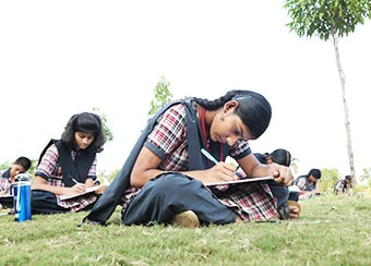 Students at Outdoor Test 1