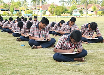 Students at Outdoor Test 2